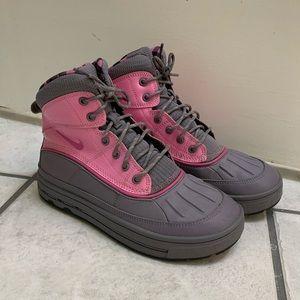 Girls Pink Nike Woodside High Top Boots